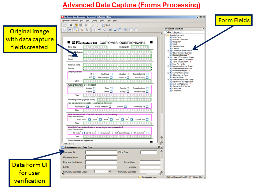 Forms Processing and Data Capture | My CMS