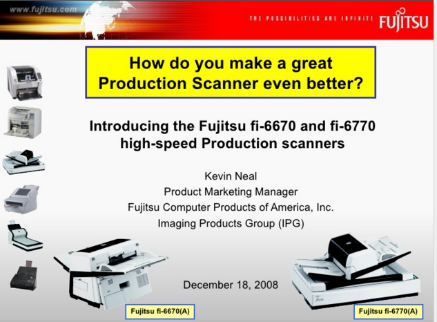 Fujitsu fi-6670 and fi-6770 Low-Volume Production Document Scanners