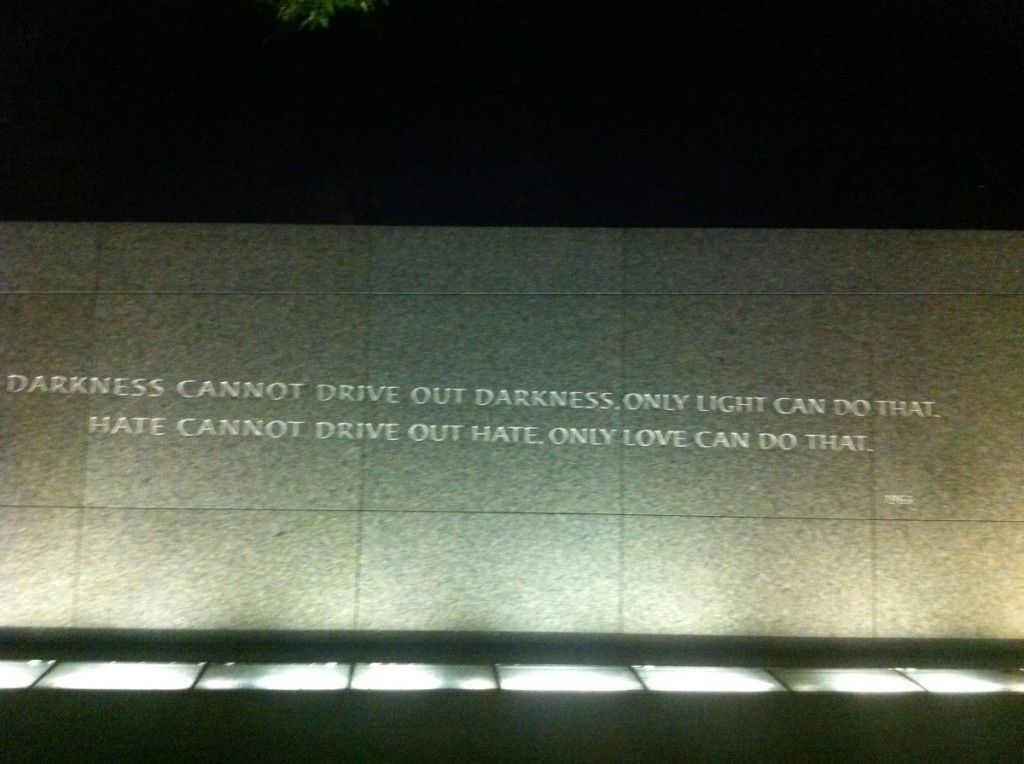 """""""Darkness cannot drive out darkness, only light can do that. Hate cannot drive out hate, only love can do that."""" (1963, Strength to Love)"""