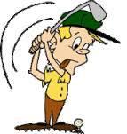 animated golfer